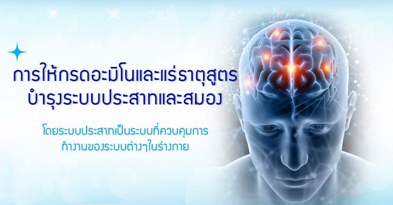 การให้กรดอะมิโนและแร่ธาตุสูตรบำรุงระบบประสาทและสมอง